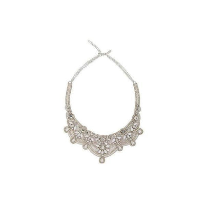 'Katelyn' Bridal Necklace-Discontinued-Ivory-Necklace drop: 14cm-Tegen Accessories