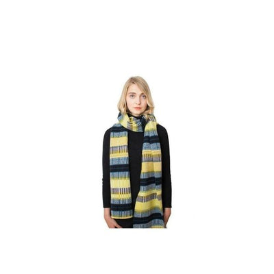 Lambswool Grid Scarf-Discontinued-Citrus-Tegen Accessories