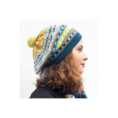Lambswool Jacquard Beret-Discontinued-50s Pastels-Tegen Accessories