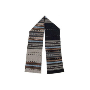 Lambswool Jacquard Scarf-Discontinued-Aqua Citroen-Tegen Accessories