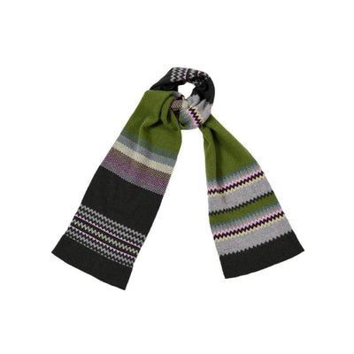 Lambswool Zig Zag Scarf-Discontinued-Botanical-Tegen Accessories