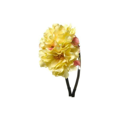 Large Blossom Headband-Hair flowers-Rosie Fox-Yellow-Tegen Accessories