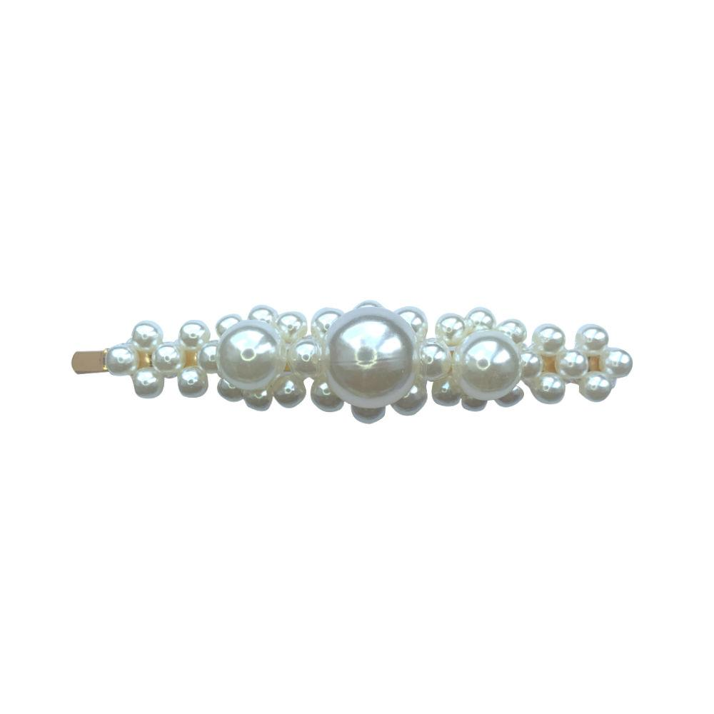 Large Centre Pearl Hair Slide-Clips & slides-Tegen Accessories-Tegen Accessories