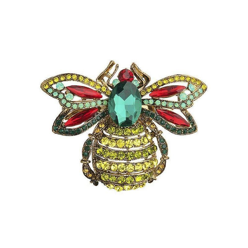 Large Crystal Bug Hair Clip and Brooch-Brooches-Rosie Fox-Tegen Accessories