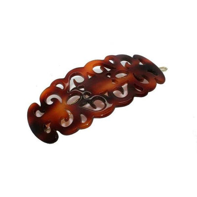 Large Filigree Hair Clip-Discontinued-Tortoiseshell-Tegen Accessories