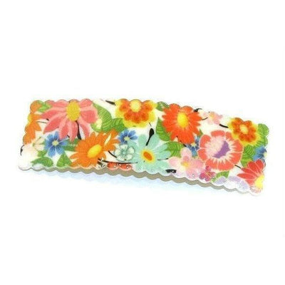 Large Floral Snap Clip-Discontinued-Multicolor-Tegen Accessories