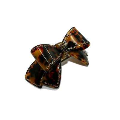 Large Swarovski Crystal Bow Barrette-Discontinued-Dark Tokio-Tegen Accessories