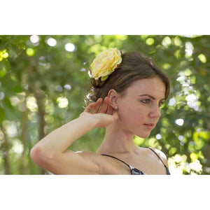Lemon Rose Hair Flower-Hair flowers-Rosie Fox-Yellow-Tegen Accessories