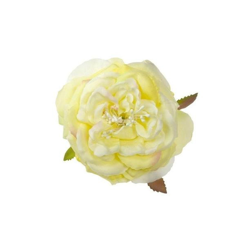 Vintage Rose Hair Flower-Hair flowers-Rosie Fox-Lemon-Tegen Accessories Cream Yellow