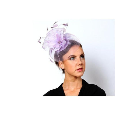 Lilac Crin and Flower Fascinator-Discontinued-Purple-Tegen Accessories