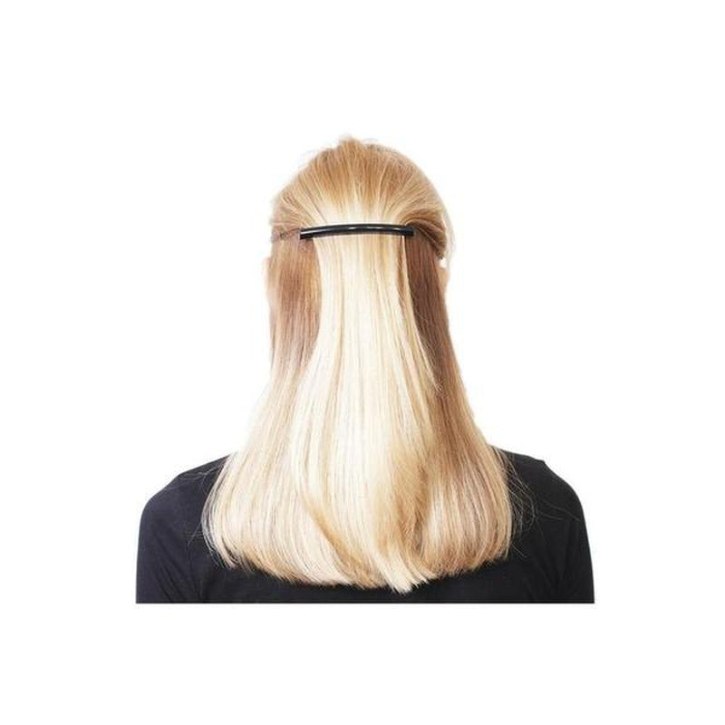 Long Narrow Barrette-Barrettes-Essentials-Black-Tegen Accessories Black