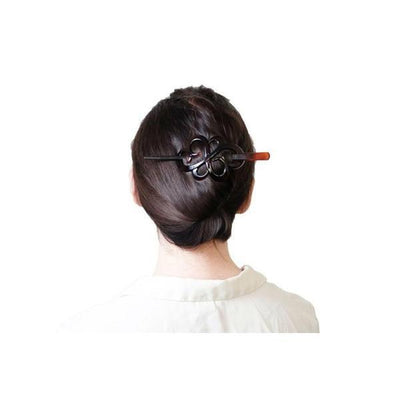 Love Knot Stick Barrette-Barrettes-Essentials-Tortoiseshell-Tegen Accessories