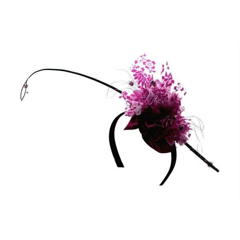 Magenta Beaded Fascinator-Fascinators-Arona Khan-Fuchsia-Tegen Accessories