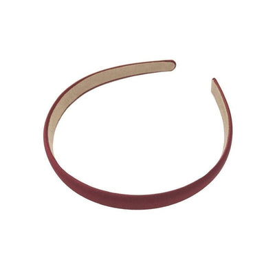 Matte Satin Headband-Headbands-Children-Burgundy-Tegen Accessories