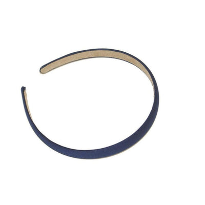 Matte Satin Headband-Headbands-Children-Navy-Tegen Accessories
