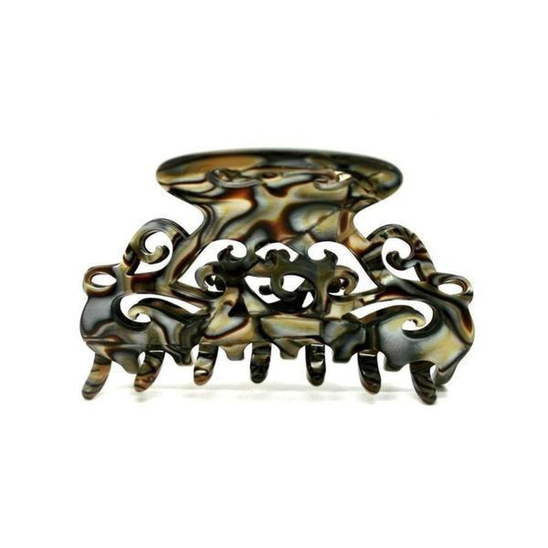 Medium Filigree Hair Claw-Hair claws-Ooh La La!-Onyx-Tegen Accessories