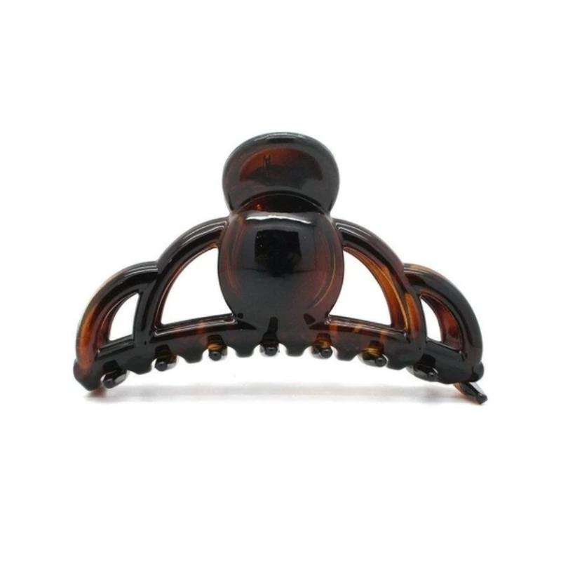 Medium Loop Hair Claw-Hair claws-Essentials-Tortoiseshell-Brown-Tegen Accessories Brown