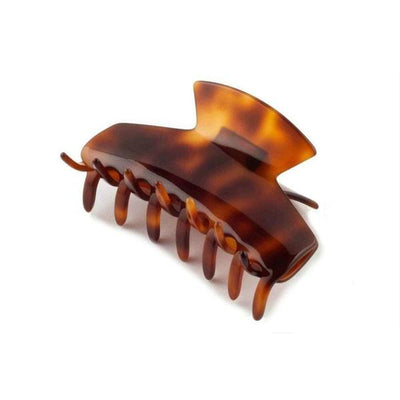 Medium Square Edge Hair Claw-Discontinued-Tortoiseshell-Tegen Accessories