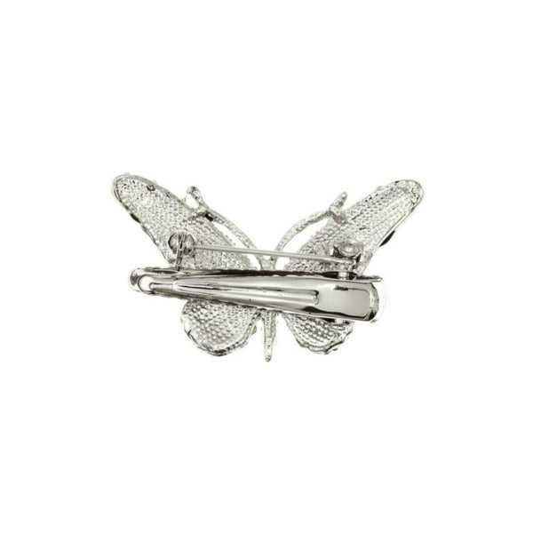 Mini Crystal Butterfly Brooch & Hairclip-Discontinued-Blue Crystal-Tegen Accessories