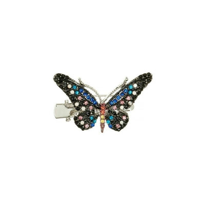 Mini Crystal Butterfly Brooch & Hairclip-Discontinued-Multicoloured Crystal-Tegen Accessories
