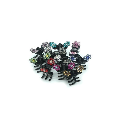 Mini Crystal Flower Hair Claw-Hair claws-Tegen Accessories-Tegen Accessories