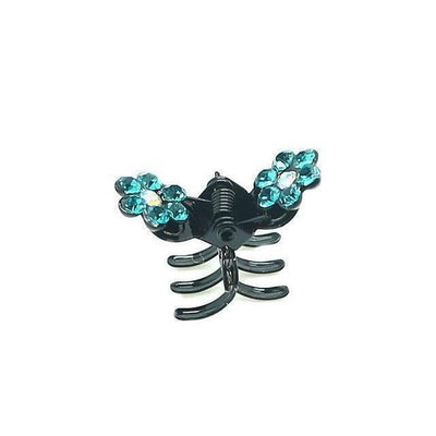 Mini Crystal Flower Hair Claw-Hair claws-Tegen Accessories-Jade Crystal-Tegen Accessories