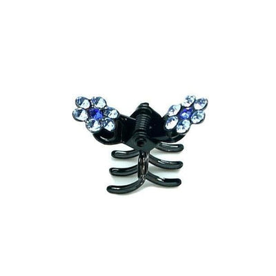 Mini Crystal Flower Hair Claw-Hair claws-Tegen Accessories-Light Blue Crystal-Tegen Accessories