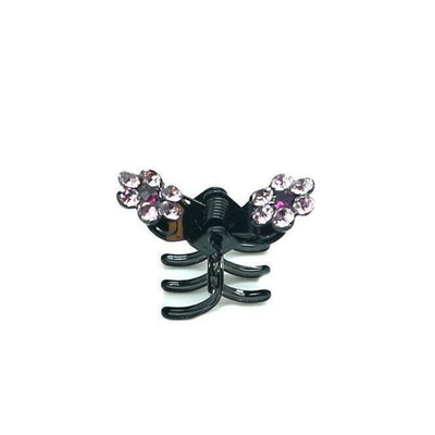 Mini Crystal Flower Hair Claw-Hair claws-Tegen Accessories-Pink Crystal-Tegen Accessories