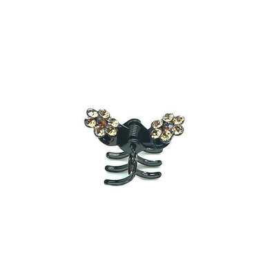 Mini Crystal Flower Hair Claw-Hair claws-Tegen Accessories-Topaz Crystal-Tegen Accessories