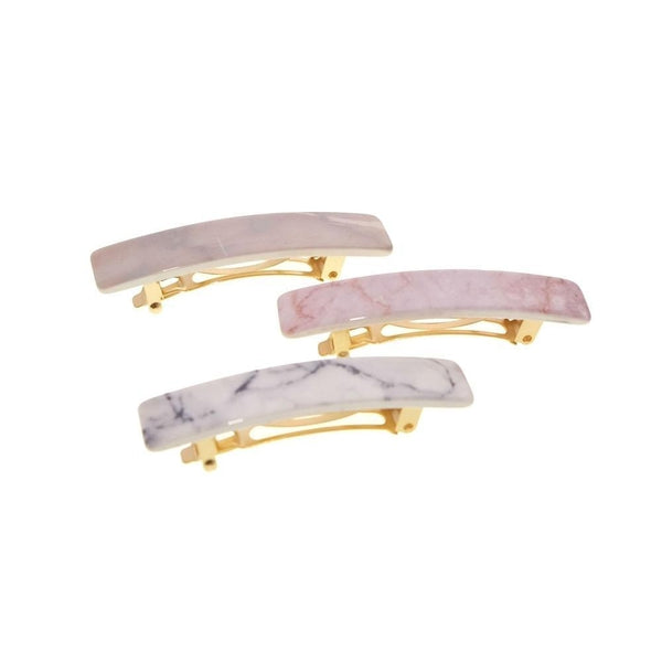 Mini Marble Barrette-Discontinued-Tegen Accessories