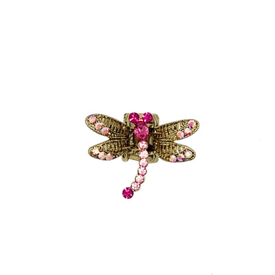 Mini Swarovski Crystal Dragonfly Hairclaw-Hair claws-Swarovski Crystal-Fuchsia Crystal-Tegen Accessories