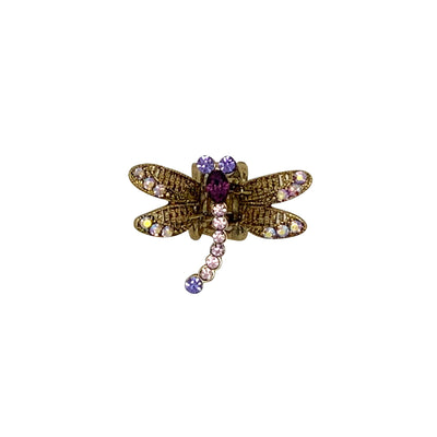 Mini Swarovski Crystal Dragonfly Hairclaw-Hair claws-Swarovski Crystal-Purple Crystal-Tegen Accessories