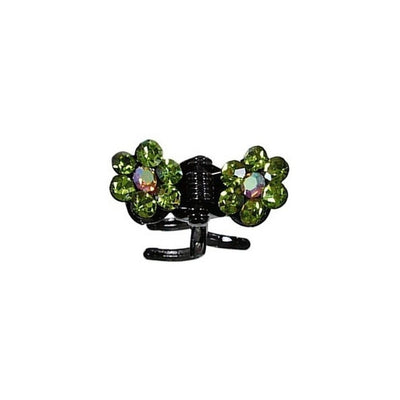 Mini Swarovski Crystal Flower Hair Claw-Discontinued-Green Crystal-Tegen Accessories