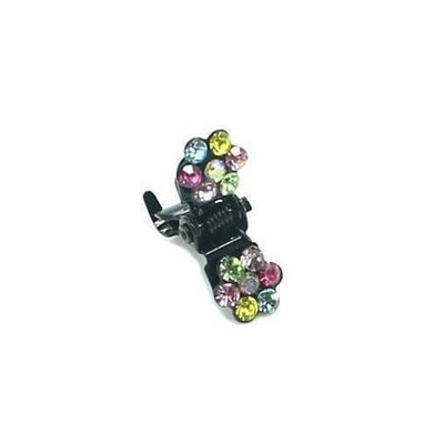 Mini Swarovski Crystal Flower Hair Claw-Discontinued-Multicoloured Crystal-Tegen Accessories