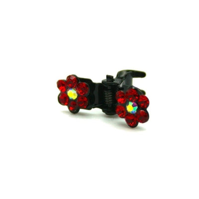 Mini Swarovski Crystal Flower Hair Claw-Discontinued-Red Crystal-Tegen Accessories