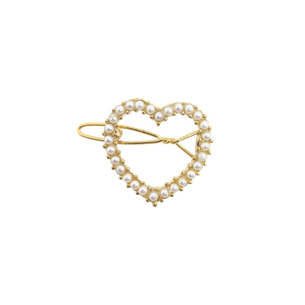 Mini Swarovski Crystal Heart Hair Clip
