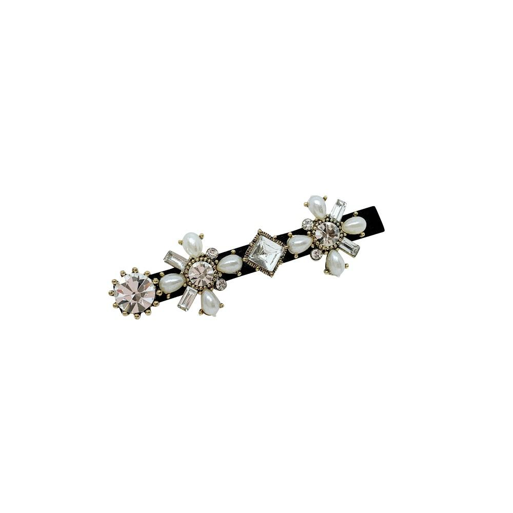 Mini Swarovski Crystal & Pearl Beak Hair Clip-Swarovski Crystal-Sunburstt-Tegen Accessories