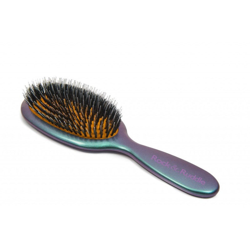 Mixed Bristle Hair Brush Green & Purple Shimmer-Hairbrushes and combs-Rock & Ruddle-Large-Tegen Accessories