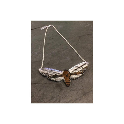 Moth Necklace-Discontinued-Silver-Tegen Accessories
