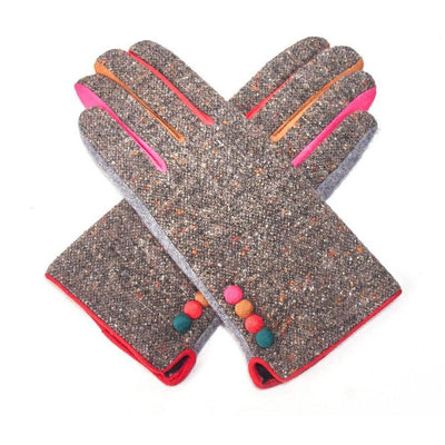 Multicoloured Speckle Gloves-Discontinued-Grey-Tegen Accessories