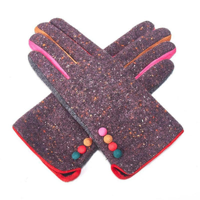 Multicoloured Speckle Gloves-Discontinued-Purple-Tegen Accessories