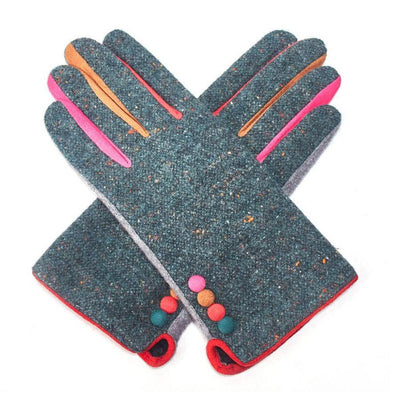 Multicoloured Speckle Gloves-Discontinued-Teal-Tegen Accessories