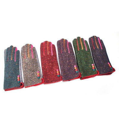 Multicoloured Speckle Gloves-Discontinued-Tegen Accessories