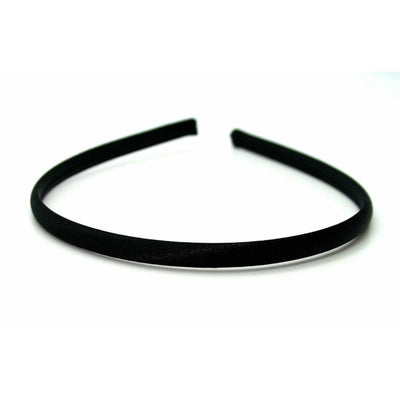 Narrow Satin Headband-Headbands-Children-Black-Tegen Accessories