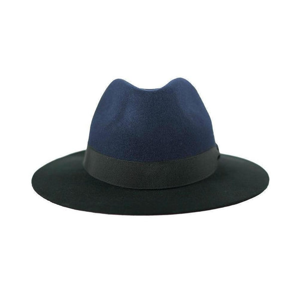 Navy & Black Bracket Fedora Hat-Hats-Alpachura Hats-Navy-Tegen Accessories
