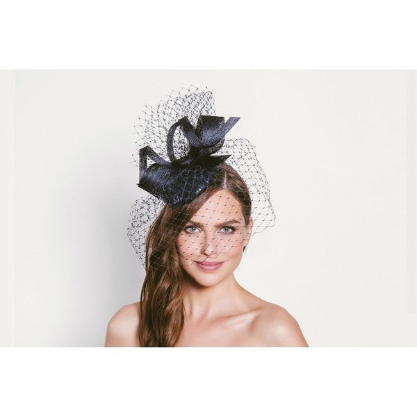 86bd184b126ba Navy Sequin Pillbox Fascinator with Veil-Discontinued-Navy-Tegen Accessories