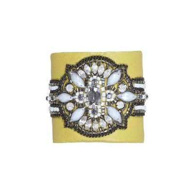 Ochre Swarovski Gatsby Cuff-Discontinued-Yellow-Tegen Accessories