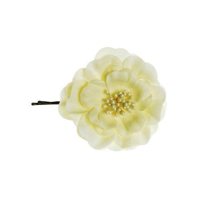 Pair of Cream Flower Hairslides-Hair flowers-Rosie Fox-Tegen Accessories