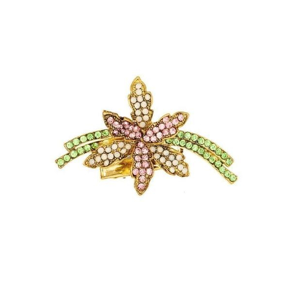 Pastel Crystal Spray Hairclip & Brooch-Brooches-Rosie Fox-Tegen Accessories