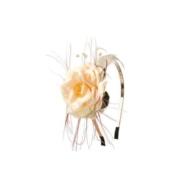 Peach Pearl Rose Headband-Hair flowers-Rosie Fox-Nude-Tegen Accessories